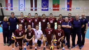 Video: Latvijas volejbola izlase pārspēj favorīti Slovākiju