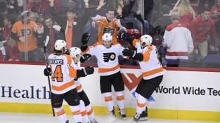 """Filadelfijas """"Flyers"""" Vašingtonā izcīna savu septīto uzvaru pēdējās astoņās spēlēs"""