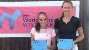 Darja Semeņistaja Tunisijā iegūst pirmo ITF dubultspēļu titulu