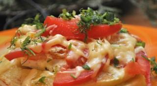 Kabaču un tomātu tornītis