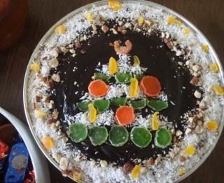 Ātri pagatavojamā Ziemassvētku biezpiena kūka