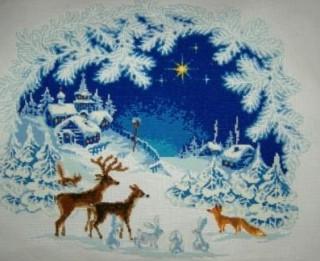 Izšūšanas shēmas ar Ziemassvētku motīviem taviem rokdarbiem