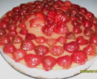 Selgas cepumu torte ar zemenēm