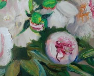 """Bauskas muzejā atklās Īras Rozentāles gleznu izstādi """"Peonijas"""""""