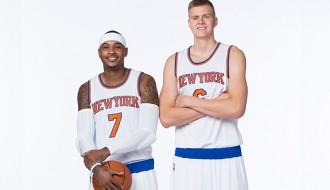 """Foto: Porziņģis piedalās """"Knicks"""" mediju dienā"""