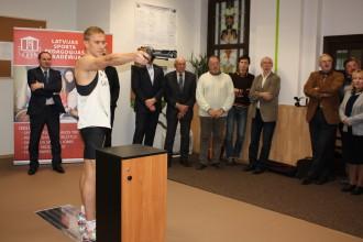 LSPA atklāta unikāla sporta laboratorija ar sensorjūtīgu grīdu
