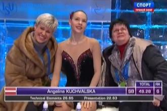 Kučvaļskai 17. vieta Eiropas čempionāta īsajā programmā (+video)