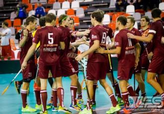 Foto: Latvijas izlase Četru nāciju turnīru sāk ar uzvaru pār dāņiem