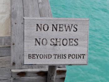 No news, no shoes jeb vieta, no kuras grūti atgriezties realitātē