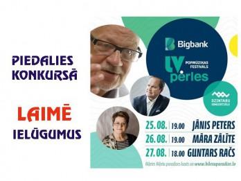 """Zināms uzvarētājs """"Bigbank Latvijas pērles"""" konkursam: Guntara Rača dziesmu vakars"""