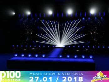 Aizkulises: Kā izskatās īpaši DIGiTop100 šovam veidotā skatuve ar teju 1000 ekrānu moduļiem?