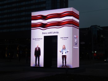 """""""Goda vārtos"""" Latvijas vērtības – sava valsts, himna un mīlestība"""