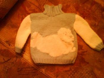 Rokdarbi. Bērnu džemperītis ar ronīša attēlu