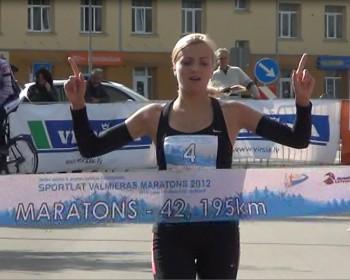 Anita Kažemāka Frankfurtes maratona skrējienā 13.vietā