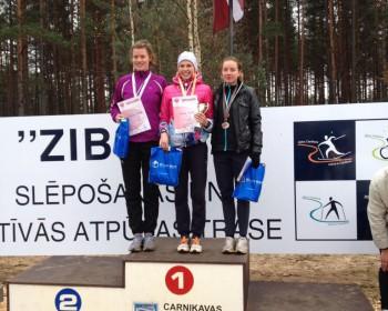 Latvijas čempioni krosā - Jeļena Ābele un Dmitrijs Serjogins