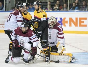Saspringtā cīņā Latvijas izlasei zaudējums Vācijai