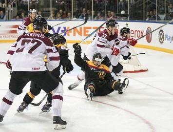 Video: Latvijas hokeja izlase piekāpjas Vācijai