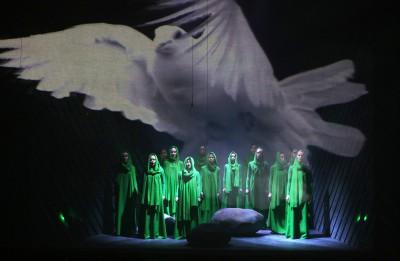 """Latgales kongresa simtgadei veltītā izrāde """"Nūgrymušõ pile"""" -ar degošu sirdi par Latviju"""