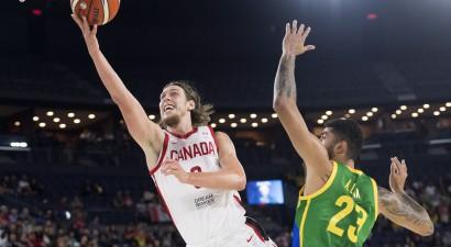 Olinikam 20+19, Kanāda ar pieciem NBA spēlētājiem sastāvā sakauj Brazīliju