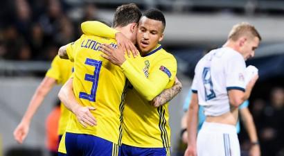 Zviedrija iekļūst A līgā, skoti un serbi tiek B līgā, Forestam un Zeneli <i>hat-trick</i>