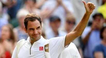"""Federers svin 100. uzvaru Vimbldonā, Nadals pirmais kvalificējas """"ATP Finals"""""""