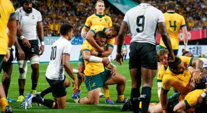 Austrālija PK ievadā izcīna smagu uzvaru pret Fidži