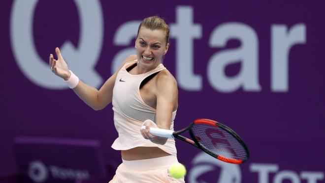 Kvitova pieveic Dohas turnīra speciālisti Radvaņsku, Halepa nežēlo Makarovu