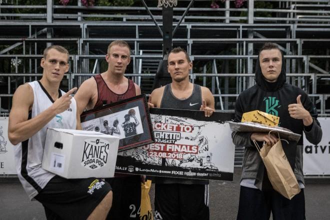 """Miezis un """"ģitāristi"""" paliek nepārspēti lietainajā """"Ghetto Basket"""""""
