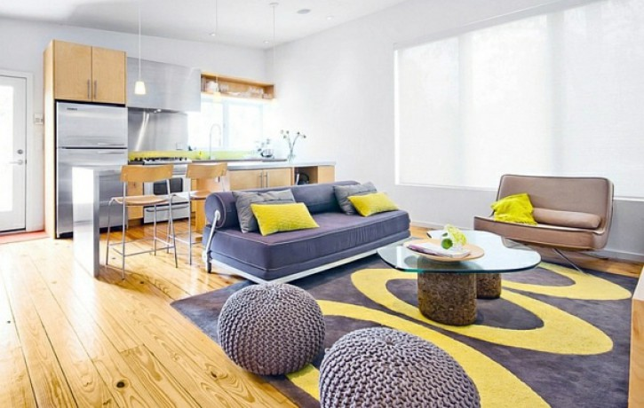 Kā pareizi izmantot dzelteno krāsu interjerā