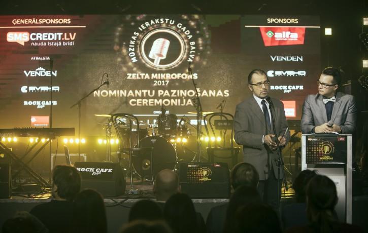 Zināmi Zelta Mikrofons 2017 nominanti