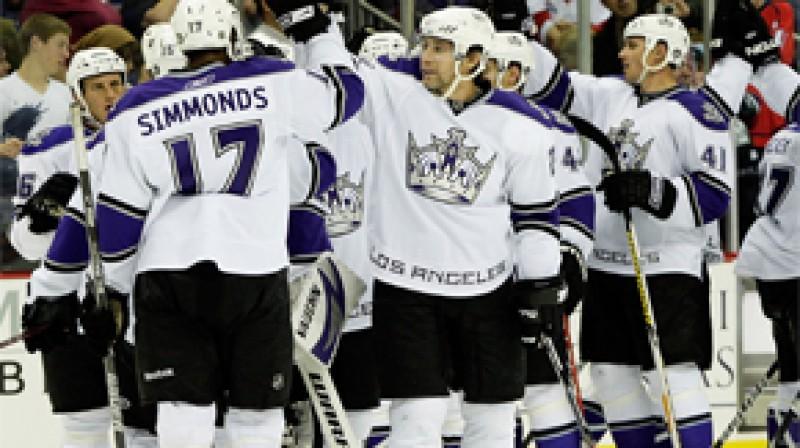 "Losandželosas ""Kings"" hokejisti Foto: AP"