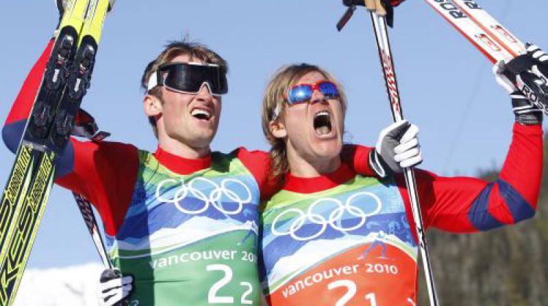 Norvēģijas slēpotāji  Foto: AP/Scanpix