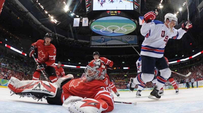 Amerikāņi jau reizi Vankūverā tikuši galā ar Kanādu. Finālā būs otrā iespēja Foto: AP/Scanpix