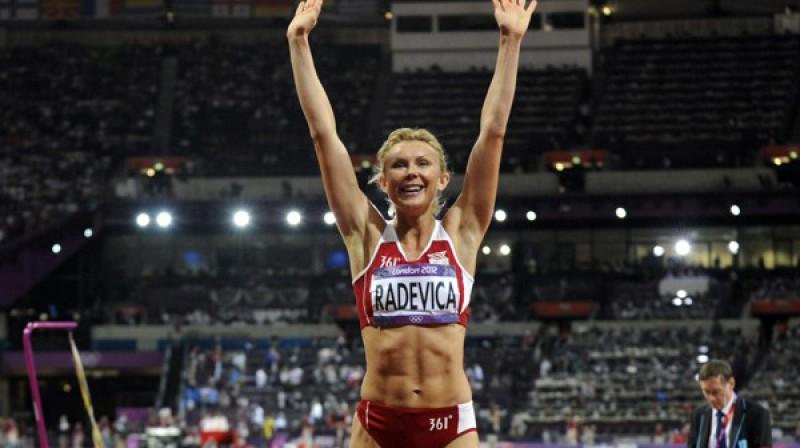 Ineta Radeviča pēc starta Londonas olimpiskajās spēlēs. Foto: Romāns Kokšarovs, Sporta Avīze, f64