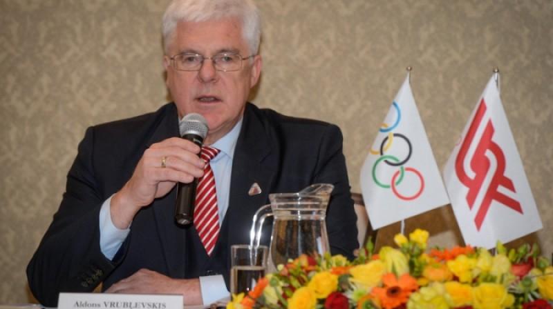LOK prezidents Aldons Vrubļevskis  Foto: Zigismunds Zālmanis, olimpiade.lv