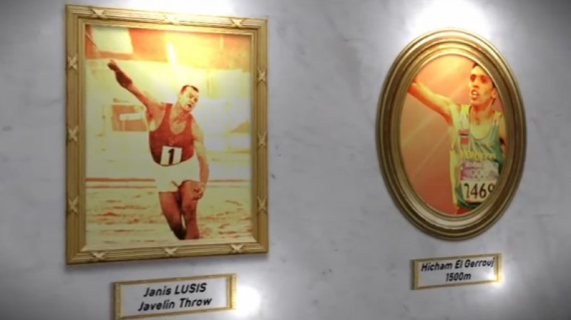 Jānis Lūsis un Hišams el Gerūžs  Foto: IAAF.org