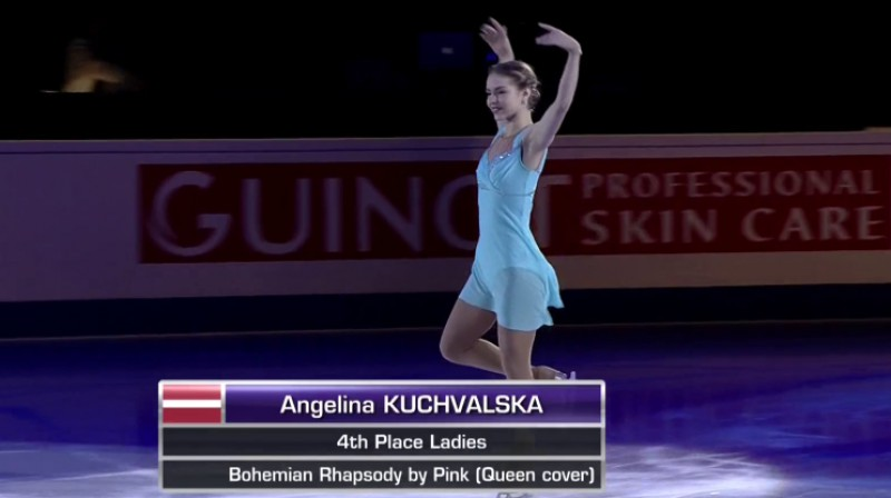 Angelina Kučvaļska noslēguma paraugdemonstrējumos  Foto: Arena