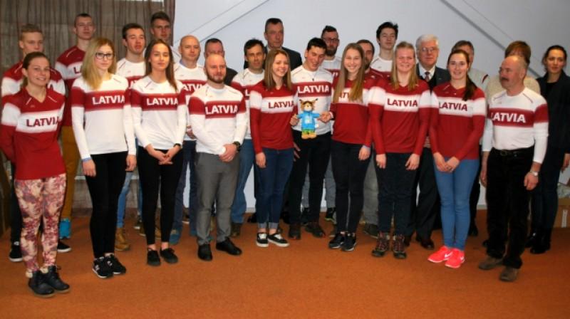 Latvijas izlase Lillehammeres spēlēs Foto: M.Mālmeisters, Latvijas Olimpiskā komiteja