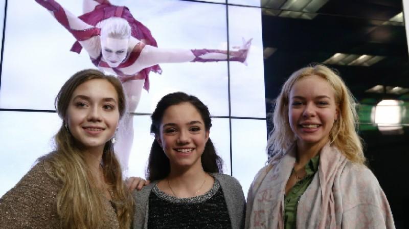 2016. gada Eiropas čempionāta medaļnieces: Jeļena Radionova (sudrabs), Jevgeņija Medvedeva (zelts), Anna Pogorila (bronza)  Foto: TASS / Scanpix