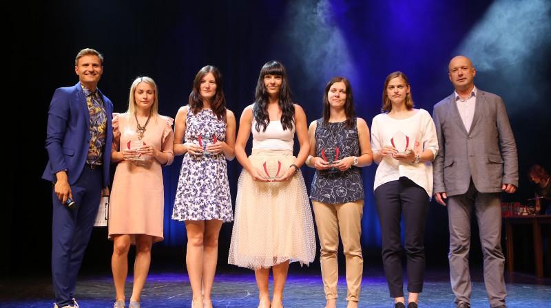 ELVI florbola līgas sievietēm simboliskā izlase Foto: Ritvars Raits, floorball.lv