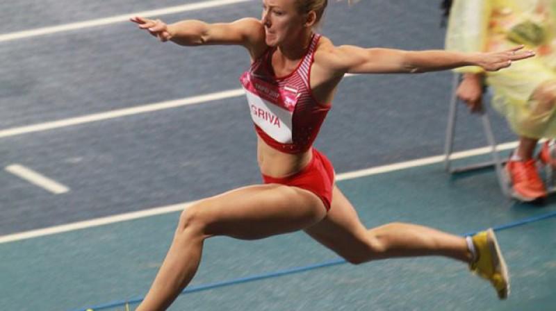 Māra Grīva pasales universiādē Foto: Sandra Škutāne, Latvijas Augstsk. sporta sav.