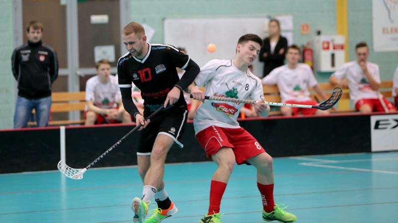 """Moments no cīņas starp komandām """"Lielvārde/Fans"""" un FBK """"Rīga Rockets"""" Foto: Ritvars Raits, floorball.lv"""