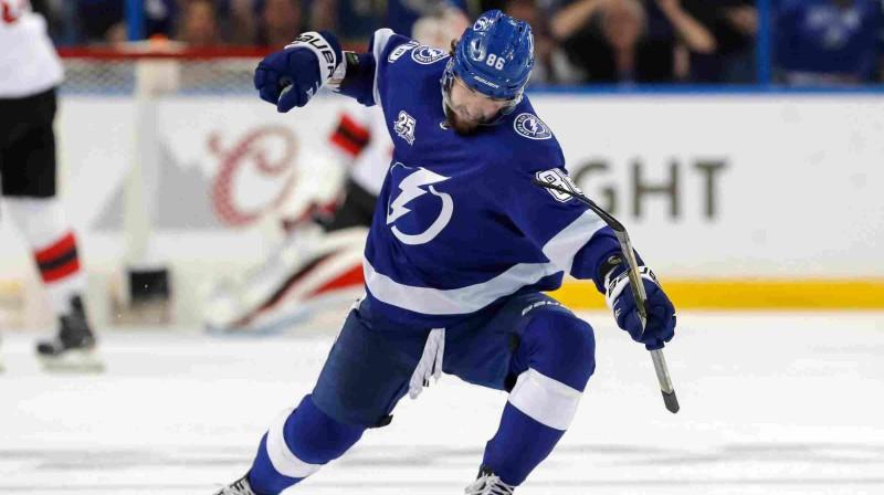 """""""Lightning"""" uzbrucējs Ņikita Kučerovs. Foto: Getty Images/Scanpix"""