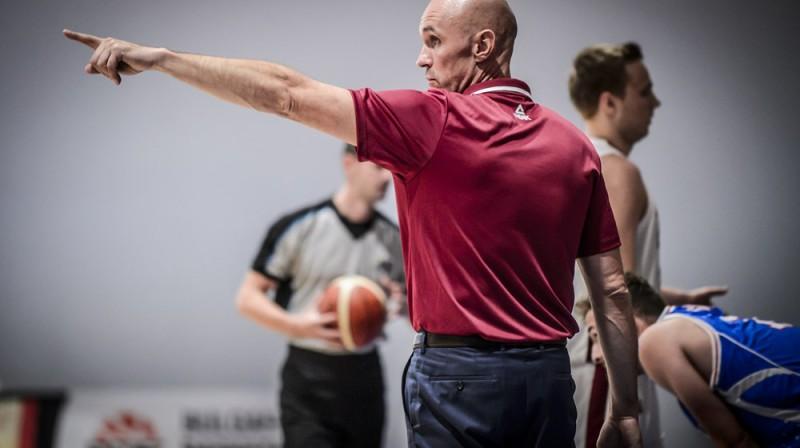 Latvijas U16 izlases galvenais treneris Agris Galvanovskis. Foto: FIBA