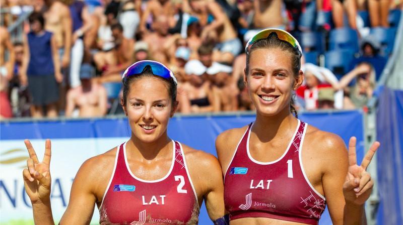 Anastasija Kravčenoka un Tīna Graudiņa. Foto: cev.eu
