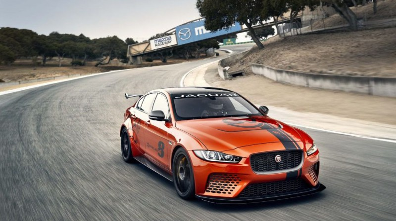 """""""Jaguar XE SV Project 8""""  var lepoties ar gandrīz 600 zs jaudu. Foto: automotiverhythms.com"""