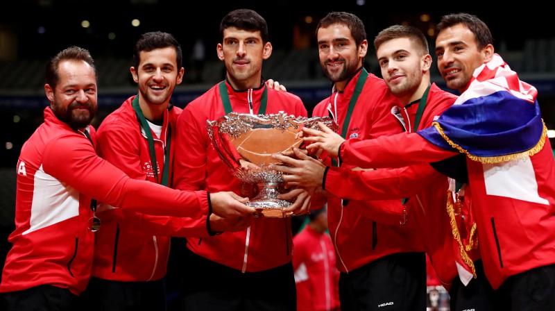2018. gada Deivisa kausa čempione Horvātija. Foto: Reuters/Scanpix