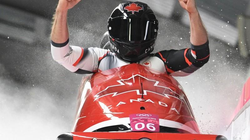 Džastins Kripss pēc olimpisko spēļu zelta iegūšanas. Foto: Reuters/Scanpix