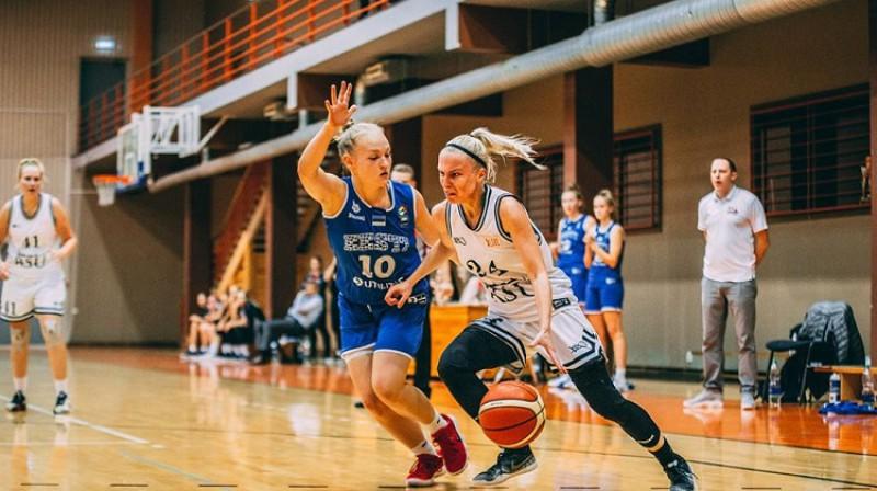 Sindija Kudule un RSU: liela uzvara izbraukumā Viļņā. Foto: Basket.lv