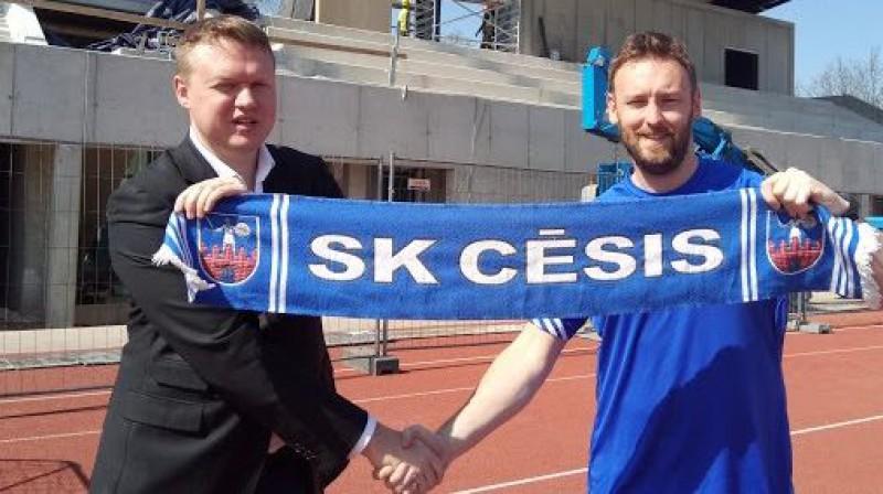 """Krišjānis Kļaviņš un Entonijs Makmallens. Foto: SK """"Cēsis"""""""